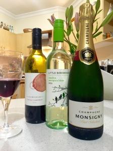 The Aldi range, Sem Sav, Red and Champagne