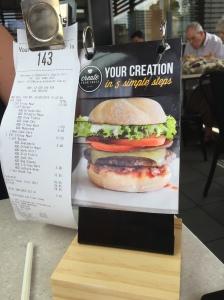 Docket holder and flip menu on each table